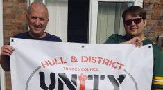 Tony (left) with nurse Matt Whale, UNISON steward at Hull Royal